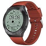 LXQGR Smart Watch 1.3 Pollici HD Schermo Rotondo IP68 Impermeabile Multifunzionale Smart Watch Cinturino in Silicone Ross