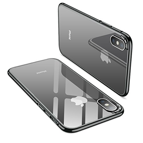 iPhone X Case, MOBYFL Slim Fit Metal Bumper Case with Shockproof Metal Bumper, Anti-Scratch Hard Cover Case for Apple iPhone X/iPhone 10 (Gray)