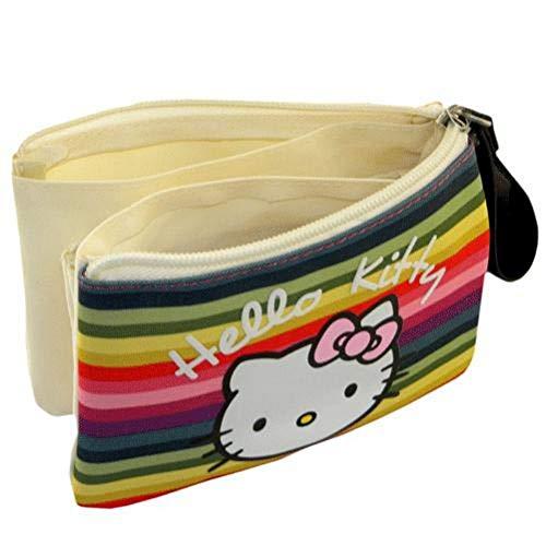 Hello Kitty Petite trousse à soufflets stripes