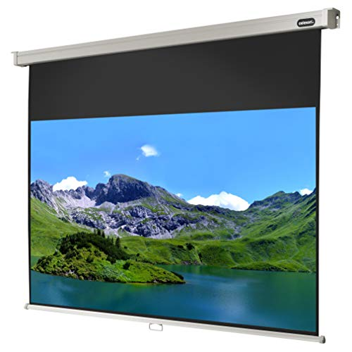 celexon manuell ausziehbare Heimkino- und Business-Beamer-Leinwand 4K und Full-HD Rollo-Leinwand Professional - 200x113 cm - 16:9 - Gain 1,2