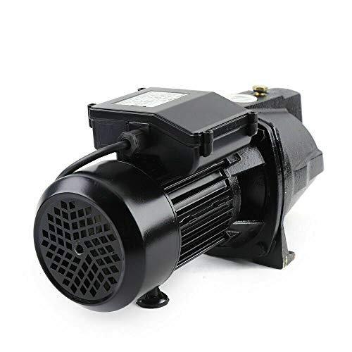 1 Horsepower 17.5GPM Shallow Well Jet Pump 110V Corrosion Resistant Adjustable Pressure Switch Fresh Water Irrigation Pump For Water Well Supply