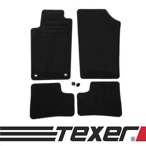 CARMAT TEXER Textil Fußmatten Passend für Peugeot 206 (ohne 206+) Bj. 1998-2009 Basic
