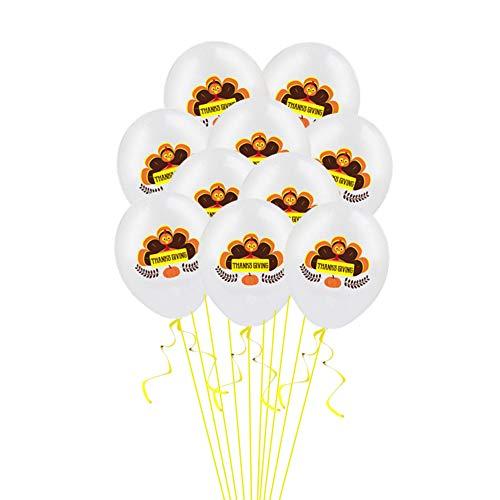 VVV Globos de Fiesta,100Piezas 12 Pulgadas de Acción de Gracias Turquía Decoración de Fiesta Globos,Casa Dormitorio Sala de Estar Jardín Vestir,A