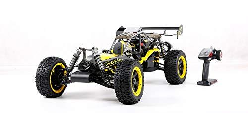 WMING 4WD RC Buggy Gasolina, 1/5 de Coches de Juguete de Gas Off Road con Motor de 45 CC de Gasolina para Adultos, 2.4G regulador de Radio Incluyó,Amarillo