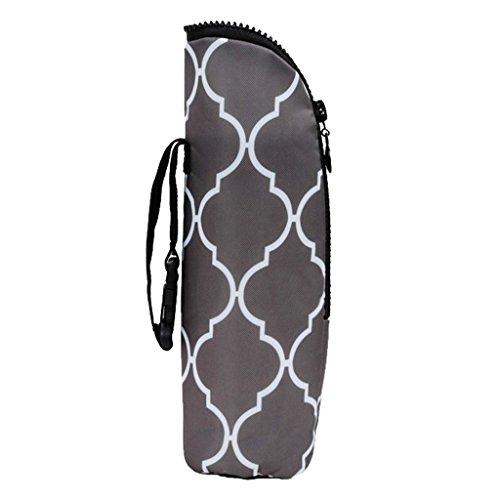 Isoliertasche für Babyflaschen - Baby Flaschen Wärmer oder Kühltasche - Thermo Tasche für Muttermilch & Babynahrung - Graue Überprüfung