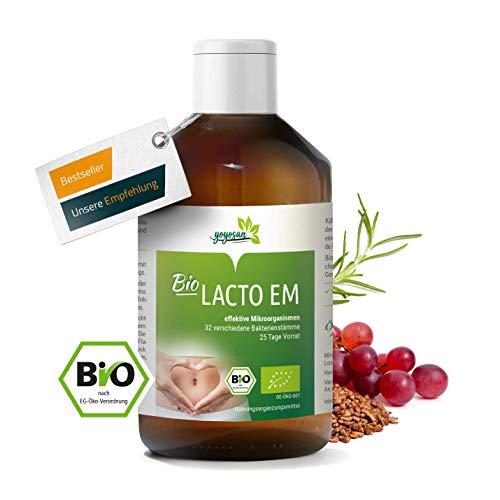 Effektive Mikroorganismen von yoyosan® - Darmreinigungskur mit 32 Bakterienstämmen in Bio-Qualität | Zur Unterstützung und zum Aufbau der Darmflora - 100{ad5cb257f95a92946ee64e0e784c1a93310ead505b8999333873f65e2bb3c7eb} Natürliche Inhaltsstoffe - 500 ml