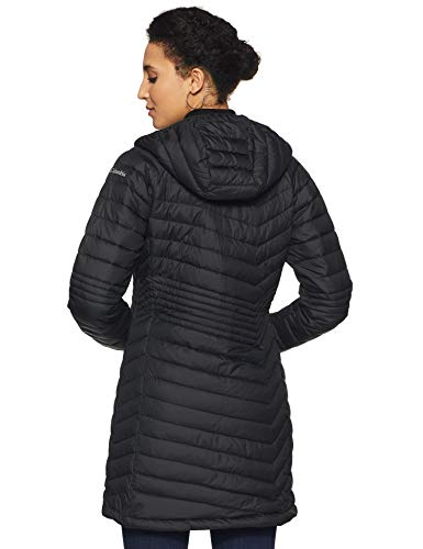 Columbia Powder Lite, Chaqueta de longitud media, Mujer, Negro (Black) Talla L