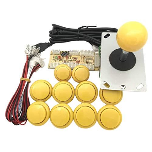 YUZI Arcade Joystick DIY Kit Zero Delay USB Encoder To PC PS3 Sanwa Push Buttons