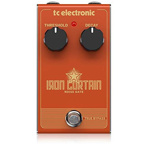 TC Electronic アナログノイズゲートペダル ギターエフェクター アナログ回路設計 シンプルな操作 トゥルーバイパス IRON CURTAIN NOISE GATE