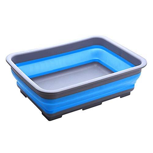 Farmer-W wasschaal, opvouwbaar, draagbaar, inklapbaar, voor camping, caravan, buitenactiviteiten, keuken, wastafel van kunststof Grijs Blauw
