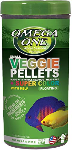 Omega One Super Color Veggie 3mm Floating Pellets with Kelp, 6.5 oz Container