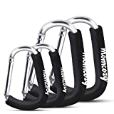 Stroller Hooks, Momcozy 4 Pack Stroller Clips, X-Large Baby Stroller Clips for Diaper Bag, Purse, Stroller Organizer, Fit for Stroller Like Uppababy, Jogger, Britax, Bugaboo, BOB, Pushchair, Buggy