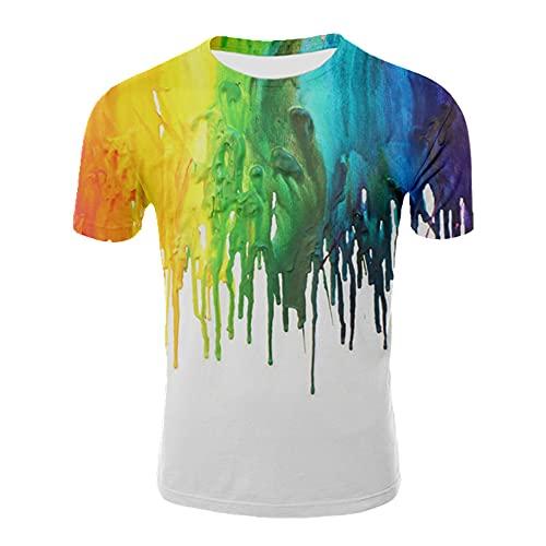 Camisa de verano de manga corta de los hombres de impresión de estilo abstracto, T02056, M
