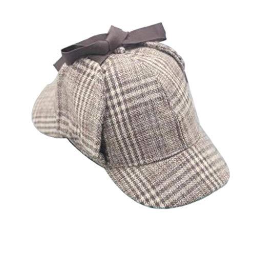 Unisex Sherlock Holmes Detective Sombrero Gorro De Cazador Hat para Adultos