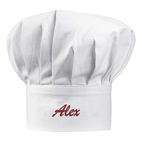 Cappello da chef adulto con nome ricamato