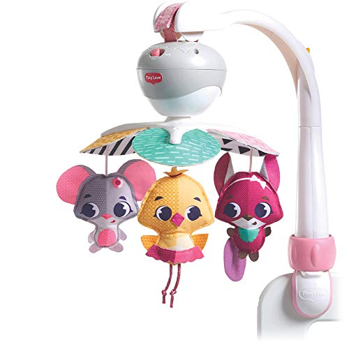 Tiny Love Take Along Mobile Tiny Princess Tales - Musikmobile für unterwegs, Prinzessinnen Mobile, Baby-Spielzeug ab der Geburt (0M +) mehrfarbig, 3333130551