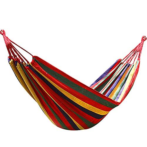 Hamaca De Lona para Exteriores 200 X 100 Cm Capacidad De Carga Máxima De 200 Kg Hamaca De Jardín con Uso Patio Camping Playa Y Patio