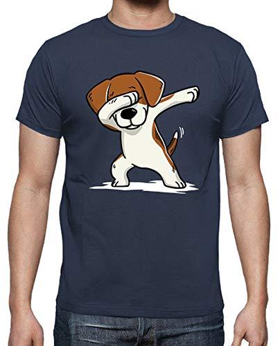 tostadora - T-Shirt Beagle Cane Dab - Uomo Denim 3XL