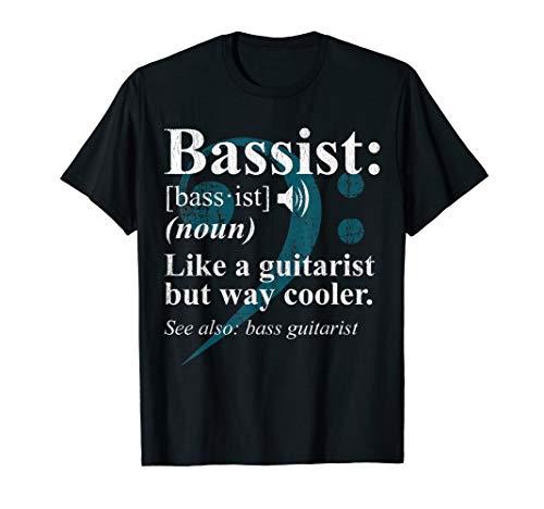Bassist Definition T-shirt Bass Guitar Player Gift