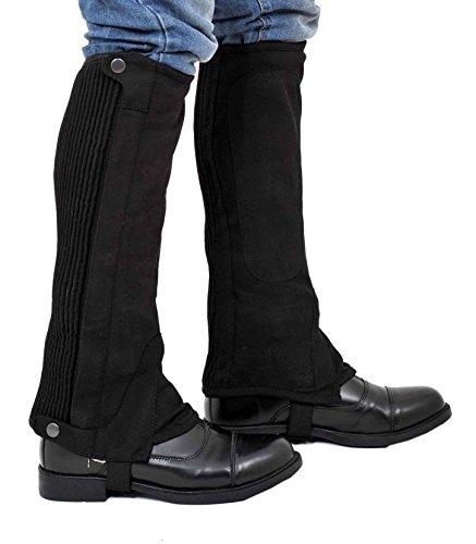 Riders Trend Amara Mini-Chaps, kniehoch, aus synthetischem Veloursleder, waschbar schwarz Nero - Nero XL