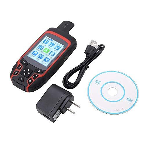 【 】 Navegación GPS al Aire Libre,Navegación GPS de Mano Brújula de navegación GPS de Mano A6, ubicación Exterior USB Recargable AC110V Enchufe de EE. UU.