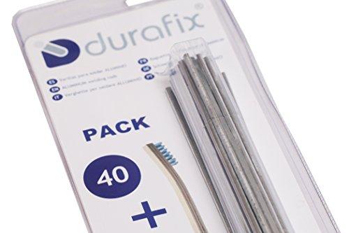 DURAFIX - 40 Verghette per saldare alluminio + 1 spazzolino inox