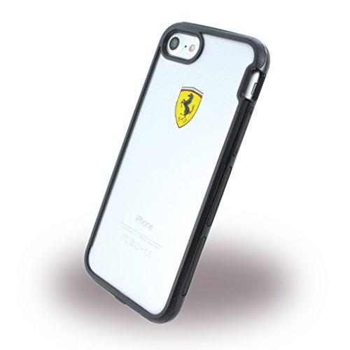 Ferrari Bi-Material Funda a Prueba de Golpes para Apple iPhone 8 y 7, Color Negro