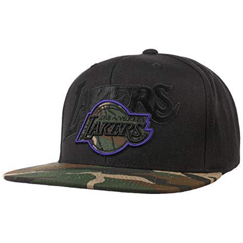 Mitchell & Ness Gorra Camo Brim Lakers by baseballNBA Cap (Talla única - Negro)