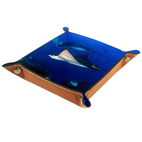 FURINKAZAN Valet Tray Change Caddy Bedside Storage Box Eagle Ray Manta