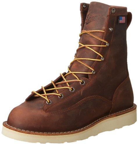 """Danner Men's 15556 Bull Run 8"""" Work Boot, Brown - 11 D"""