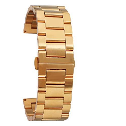 WNFYES Oro y de Las Mujeres de 18 mm 20 mm 22 mm 24 mm Correa del Metal Acero Inoxidable sólido Reloj de Pulsera de la Correa de los Hombres/de Rose de Oro Relojes Correas
