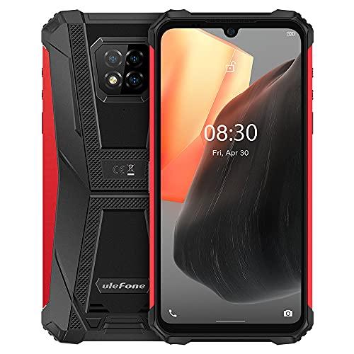 Ulefone Armor 8 Pro Android 11 Rugged Smartphone, 6,1''HD+ IP68 Robusto Telefono Cellulare Impermeabile, Helio P60 6GB+128GB, Fotocamera Quattro 16MP, NFC, Impronte Digitali Sblocco Facciale Rosso