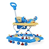 2-in-1 Design: Baby Walker can easily convert into a rocker. Assembly Required: Yes Press-Down Vacuum stoppers allow parent to easily stop the walker from moving 3-level height adjustment with safety lock, to adjust walker according to baby's height ...