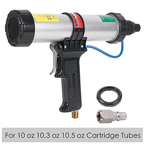 Air Power Caulk Gun 10 oz/310 ml Professional Caulking Gun Cartridge Heavy Duty Pneumatic Applicator (10-ounce)
