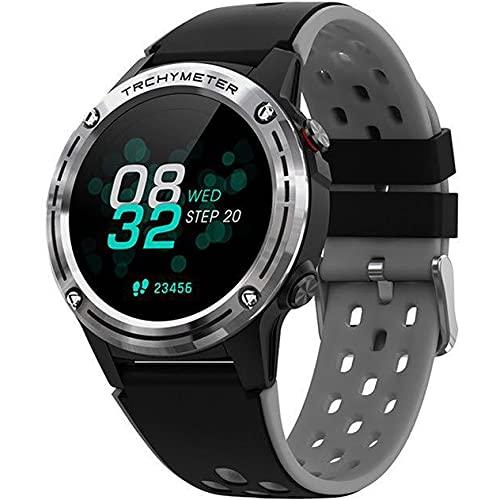APCHY Smart Watch, Monitor De Ritmo Cardíaco En Tiempo Real del Rastreador De Fitness, Pantalla Grande De 1.3 Pulgadas con Modos De Deporte Multi Monitoreo del Sueño, Rastreador De Actividades,Plata
