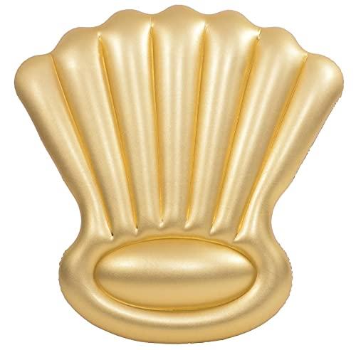 Jilong SunClub Luftmatratze Schwimmtier XL Poolmatratze 160x 160 cm Goldmuschel Gold Golden Shell