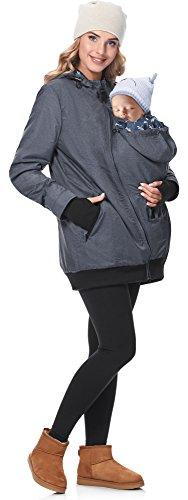 Be Mammy Damen Übergangsjacke Umstandsjacke BE20-173 (Jeans, 42)