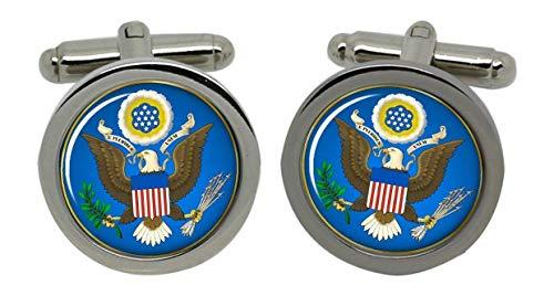US Super Seal-Boutons de manchette-Chromé-Coffret cadeau