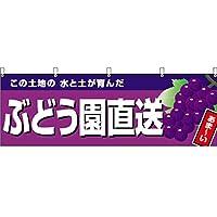 横幕 ぶどう園直送(紫地) YK-977 (受注生産) [並行輸入品]