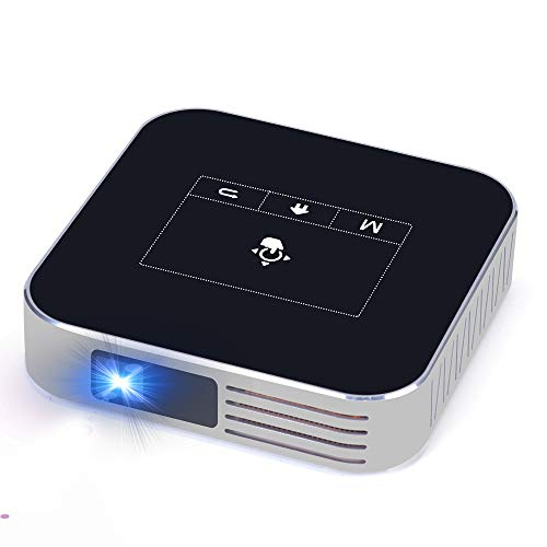 Projector Portable DLP 2500 Lumens 1080P Supported Video Projector 200' Home Theater Outdoors Gaming Mini Projectors Bluetooth WiFi HDMI USB SD Built-in Stereo Speakers (Dark Black)