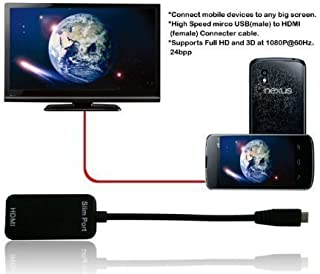 SlimPort Adapter works with Google Nexus 7! MyDP/Micro-USB to HDMI Adapter Connects Any MyDP Enabled Mobile Device and play content to any HDTV or Device.