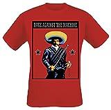 Rage Against The Machine Zapata Hombre Camiseta Rojo L, 100% algodón, Regular