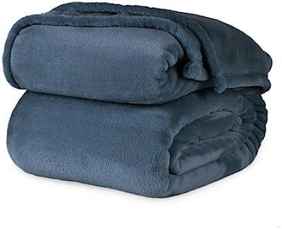 Berkshire VelvetLoft Polyester Blanket (King, Cadet Blue)