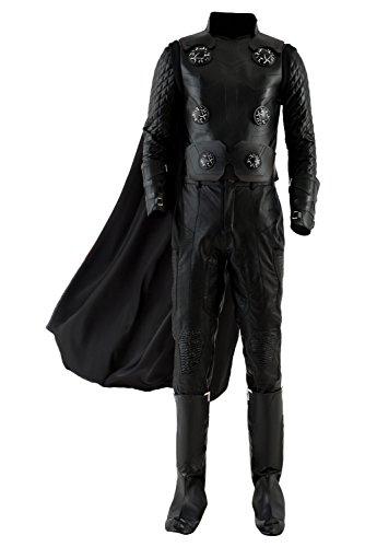 Pelicula Cosplay Disfraz de superheroe Adulto Abrigo de Cuero de la PU Armadura Chaleco Pantalones Capa Disfraces de Carnaval de Halloween, Estilo 3- L