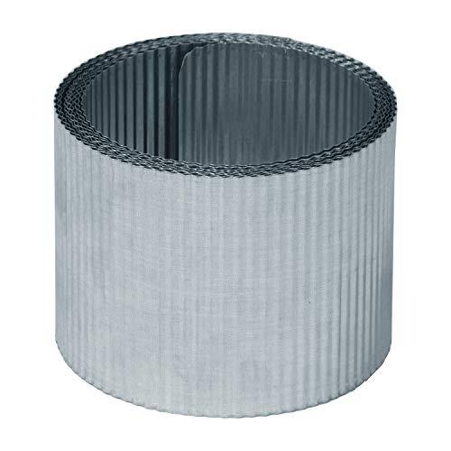 bellissa Rasenkantenband KLEINE Welle aus Metall - 99697 - Stahlblech feuerverzinkt, silberfarbig - Rasenkante 5 m x 14 cm