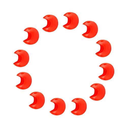 Andux Zone 12 Piezas Rojo Falso narices Fuentes del Partido XCBZ-01 (El plastico)
