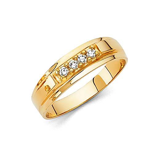 Mens 14k Yellow Gold Wedding Band - Size 9.5