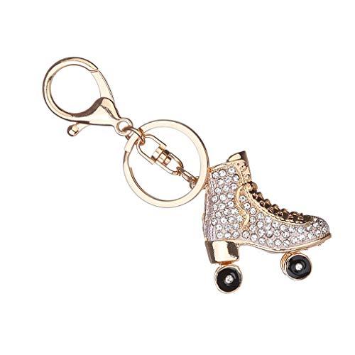 PRENKIN Roller Skates Schuh Kristall Schlüsselanhänger Handtaschen-Anhänger befestigt Halter Strass Keyring
