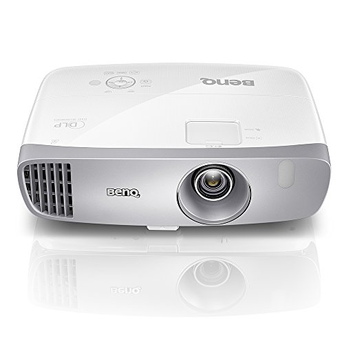 BenQ DLP HD Projector (HT2050) - 3D Home Theater Projector with All-Glass Cinema Grade Lens and RGBRGB Color Wheel,Silver/white