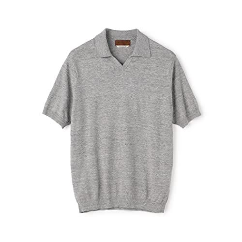 [トゥモローランド] リネン コットン スキッパー ニット ポロシャツ SESIA メンズ S 15 グレー